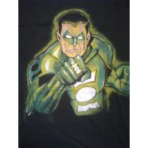Remeras Artesanales, Green Lantern, Pintada A Mano Talle Xl
