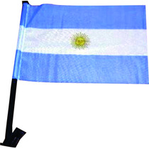 Bandera Argentina Para Auto Mastil Plastico