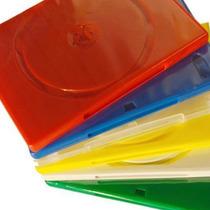 100 Estuches Dvd 14mm Varios Colores Resistentes Y Calidad