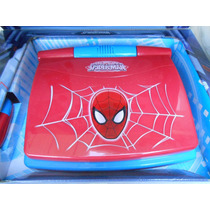 Laptop Educativa Bilingue 80 Actividades Spiderman Y Cars