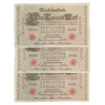 Bokobza Alemania - 1000 Mark 1910 Impecables / Sin Circular