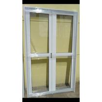Puerta Doble Aluminio Blanco 150x200 Cm Entero C/ Cerradura