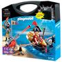 Playmobil Piratas Con Bote Y Cañon + 2 Figuras Art. 5894