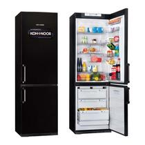 Heladera Kohinoor Kgb-4094 Con Freezer Negra 2 Motores 368lt