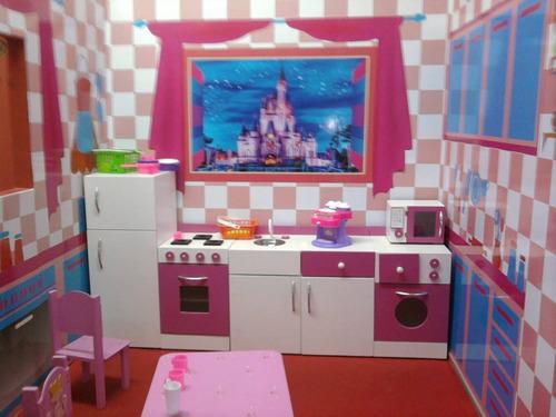 Juego De Muebles Cocina Infantil Juguete En Madera Casita (Cocinas ...