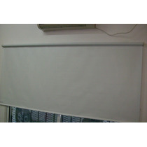 Cortinas Roller Blak Out Blanco Origen Usa 100% Bloqueo
