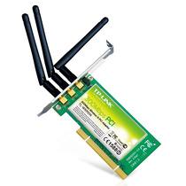 Placa Pci Wi Fi Tp-link Tl-wn951n 300 Mbps Adaptador 3 Ant.