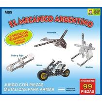 El Mecanico Argentino X 99 Pza T/ Mecano Para Armar De Metal