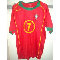 Camiseta Fútbol Selección Portugal 2006 Nike Ronaldo #7 T L