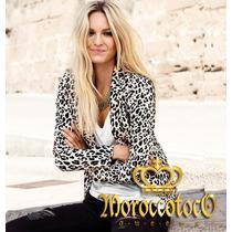 Blazer Mujer Animal Print Leopard