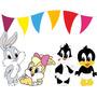 Kit Imprimible Looney Tunes Bebes Diseñá Tarjetas, Cumples