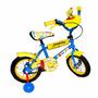 Bicicleta Rodado 12 Con Ruedas Inflables Y Rueditas De Apoyo