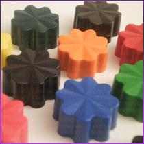 Crayones - Souvenirs - Florcitas - Cumpleaños - Pack X 24un.