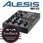 Alesis Mm4-usb - Mixer Usb 4 Canales Con Phantom Power