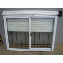 Ventana Aluminio Bco 180x150 Vidrio Cortina Reja Mosquitero