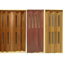 Puerta Plegadiza Vidriada Simple 60x200 Madera (mdf 12mm)