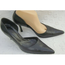 Paruolo Zapatos Stilettos 38 Cuero Vacuno Negro (ana.mar)