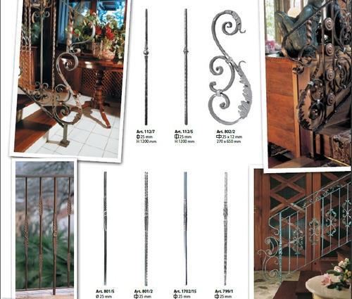 Barandas de hierro forjado terminales para escalera y - Escaleras hierro forjado ...