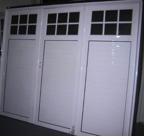 Porton garage aluminio blanco 240x200 tecnooeste fabrica for Aberturas de aluminio en mendoza precios