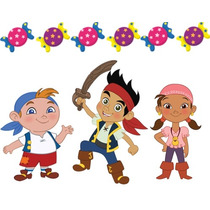 Kit Imprimible Candy Bar Jake Y Los Piratas - Editable