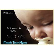 Tarjetas Bautismos Imanes Infantiles Papel Fotografico