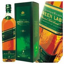 Whisky Johnnie Walker Green Label De Litro 15 Años C/estuche