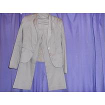 Saco Y Pantalon Capri Elastizado Yagmour 42/38 Color Vison
