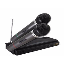 Set 2 Microfono Inalambrico Doble Profecional Karaoke Envio