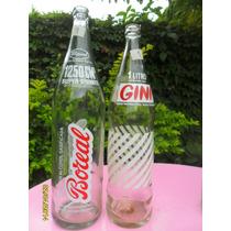 Lote De 2 Antiguas Botellas Gaseosa Gini Y Boreal De 1250