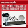 Rollos P/ Mechas Kit Completo Paleta 3 Posiciones+40 Rollos