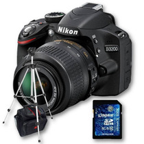Nikon D3200 Kit 18-55mm+ Sd 8gb C10+ Bolso+ Trípode 1,35mts!