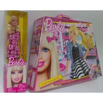 Muñeca Barbie + Puzzle Gigante + Juegos, Imperdible!