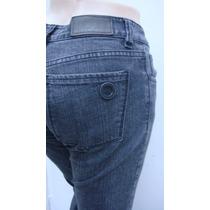 Vitamina Pantalon T23 Jean Elastizado Negro Cintura 72cm