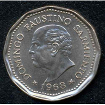 Moneda 25 Pesos Excelente Estado 1968 Coleccion!!!