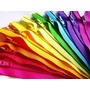 Cierres De Campera Desmontable Plastico #5 De 70cm X 100 U