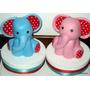 Animalitos Elefante Adorno Para Torta Porcelana Fría