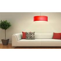 Lámpara Colgante De Tela En Varios Colores! Diseño Y Calidad