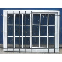 Aberturas Ventana Aluminio Rep 150x110 Vidrios Reja Hierro