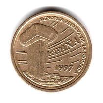 Moneda España 5 Pesetas 1997 Km#981 Islas Baleares