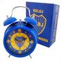 Set Reloj Despertador Y Llavero Apaisado Boca Juniors