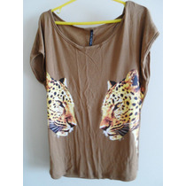 Lote De Remeras Talle S, Animal Print.