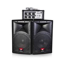Combo 2 Bafles + Mixer + 2 Microfonos Proco Sb615 Envio Free
