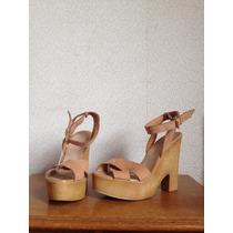 Zapatos Taco Alto Zara-madrid, Nuevas Nº 37,5