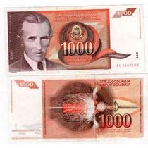 Billete Yugoeslavia 1.000 Dinara Año 1990 Catalogo Pick 107