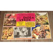 Tarzan Y La Diosa Verde Original Lobby Card Mexicano 60cm La