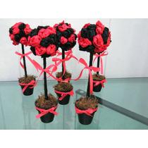 Topiarios Con Flores En Raso! Nro 12 Souvenirs,centros De Me
