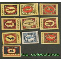 11 Etiquetas De Cajas De Fosforos Rusia De Los 70 Coleccion