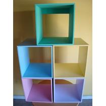Cubos De Fibrofacil Pintados 40 X40x30 $75