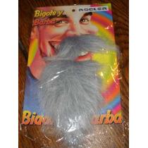 Barba Y Bigote Canoso-postizo-con Adhesivo-