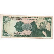 Venezuela 20 Bolivares Año 1995( Vf) Bm 2186